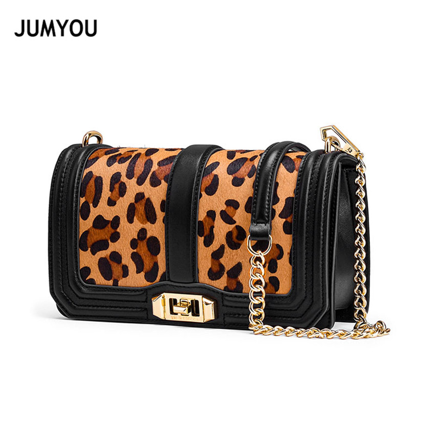 Luxury Handbags Women Bags Designer Real Leather Shoulder bags Womens Genuine Leather Leopard Chains Crossbody Bag Female Small цена