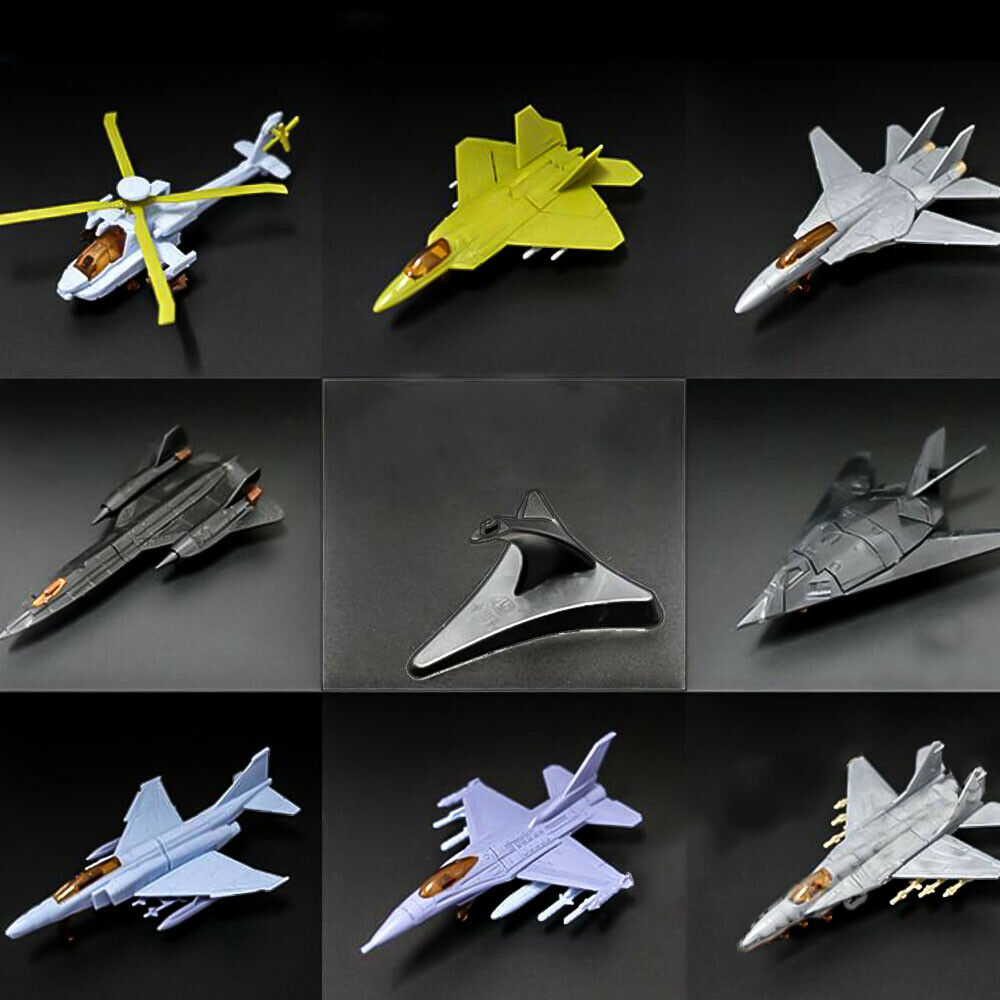 4D Assembly Airplane Helicopter Model SR-71 AH-64 F-16 F-22 F-117A Collection Puzzle Figure Toy