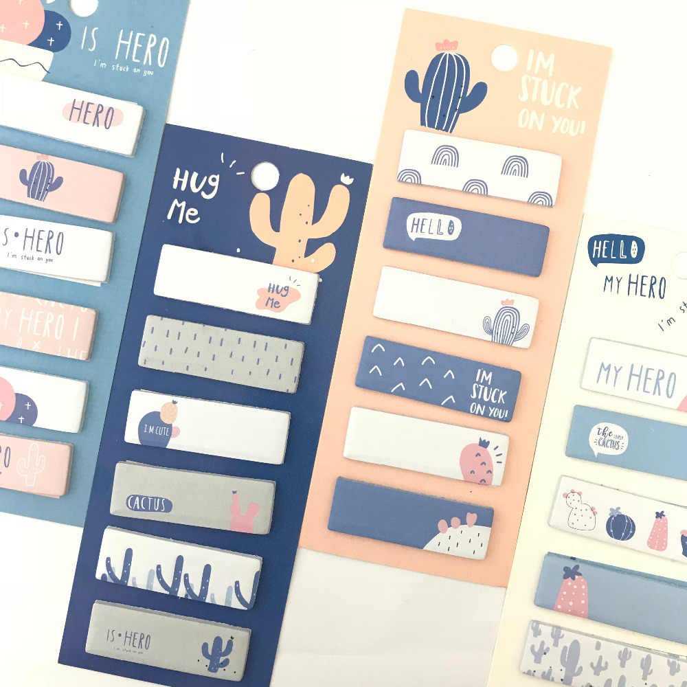 1 pak Cactus Liefde Memo Pad Sticky Notes Notepads Student Papier Stationery School Office Supply