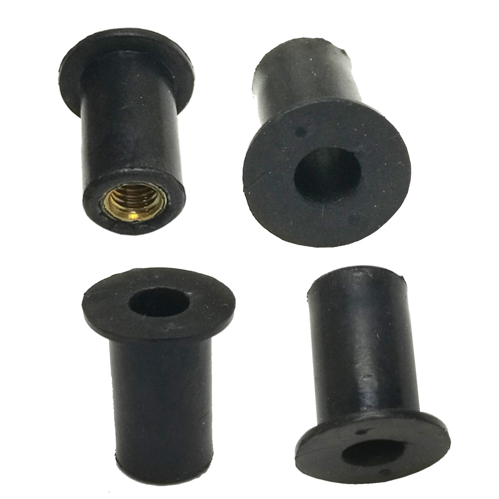 6/12pcs M5 Kayak Rubber Well Nuts Blind Fastener Rivet Fishing Kayak Accessories Nuts Windscreen Wellnuts