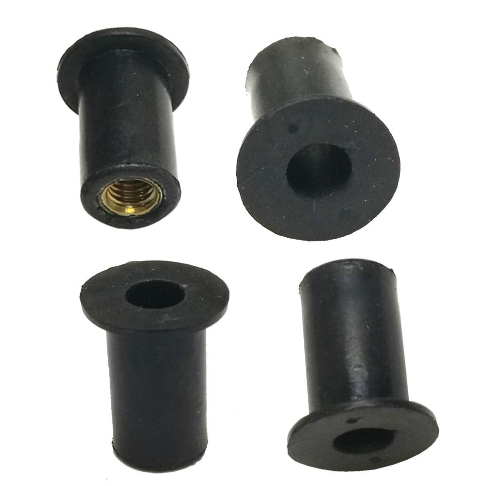 6/12pcs M5 Kayak Rubber Well Nuts Blind Fastener Rivet Fishing Kayak Accessories Nuts Windscreen Wellnuts