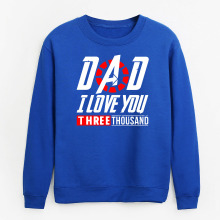 Casual sweatshirt men DAD I LOVE YOU 3000 TIMES letters print avengers endgame Fashion homme hoodies 2019 Autumn mans clothes
