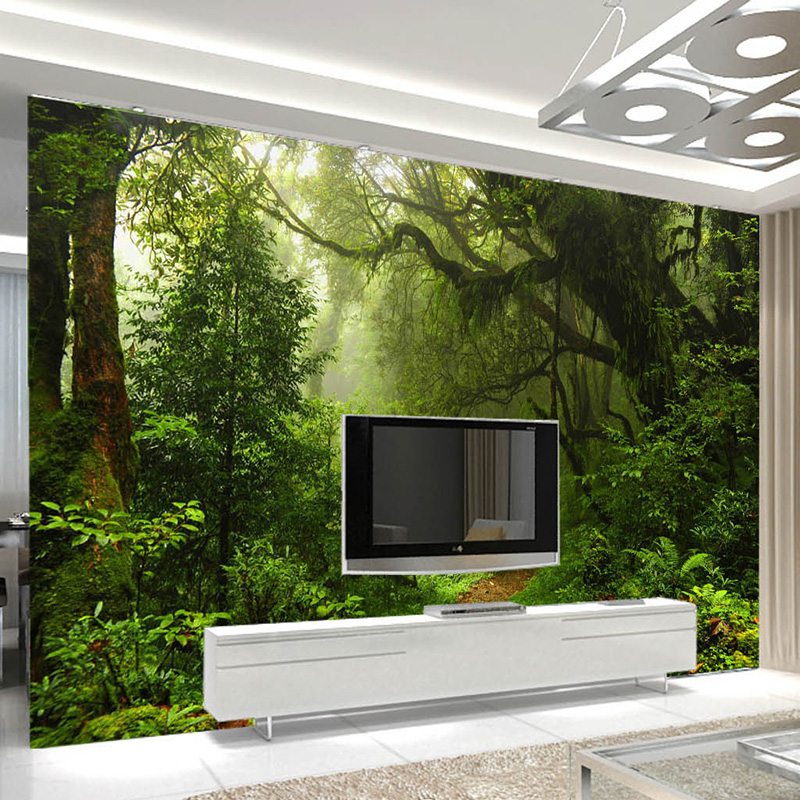 Aliexpress.com : Buy Custom 3D Primeval Forest Wall Mural Photo Wallpaper  Scenery For Walls 3D Room Landscape Wall Paper For Living Room Home Decor  From ... Part 32