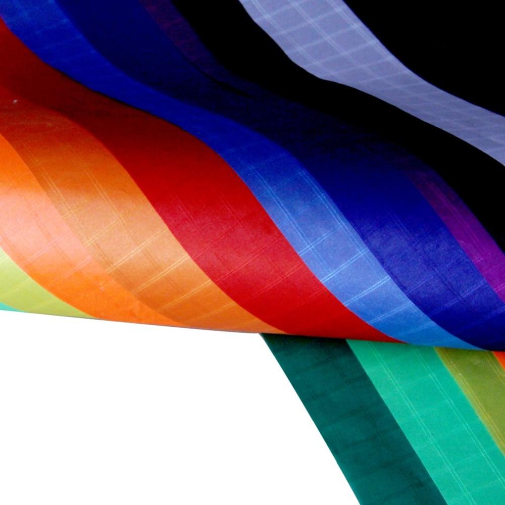 10m Polyester tissu ripstop Cerf-Volant Tissu Icarex Ultra Mince PU Enduit Tissu Extérieur En Tissu pour Bannière de Drapeau de Décoration