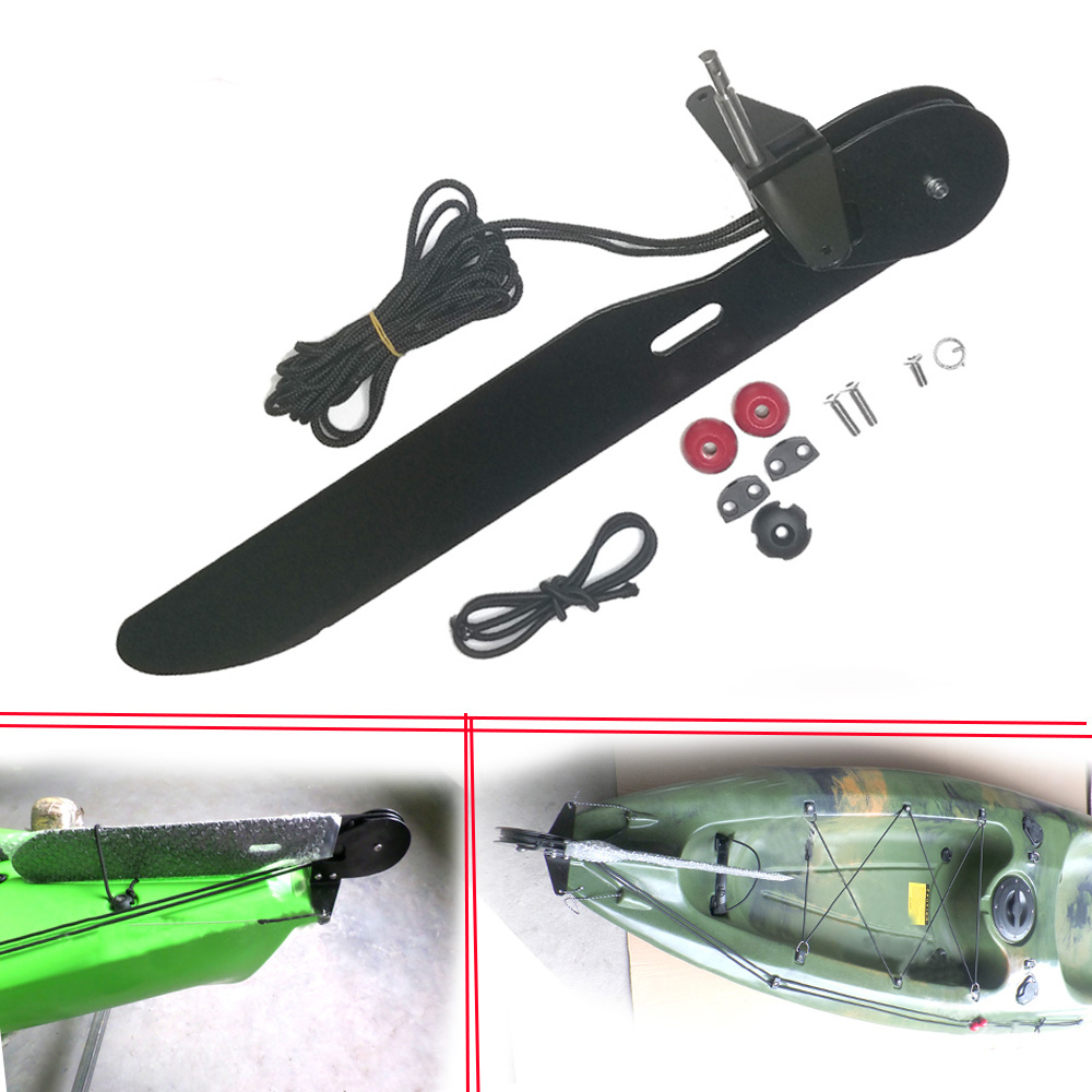 Aluminum Alloy Marine Boat Watercraft Canoe Kayak Rudder Foot Control Direction Kit Sailing Boat Parts Steering System