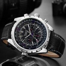 JARAGAR montre bracelet étanche pour hommes, de marque de luxe, à la mode, mécanique, pour Business, décontracté