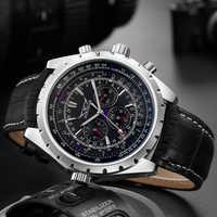 Reloj de lujo de marca de lujo de JARAGAR para hombre, relojes mecánicos de moda para hombre, reloj de pulsera informal de negocios a prueba de agua, reloj Masculino