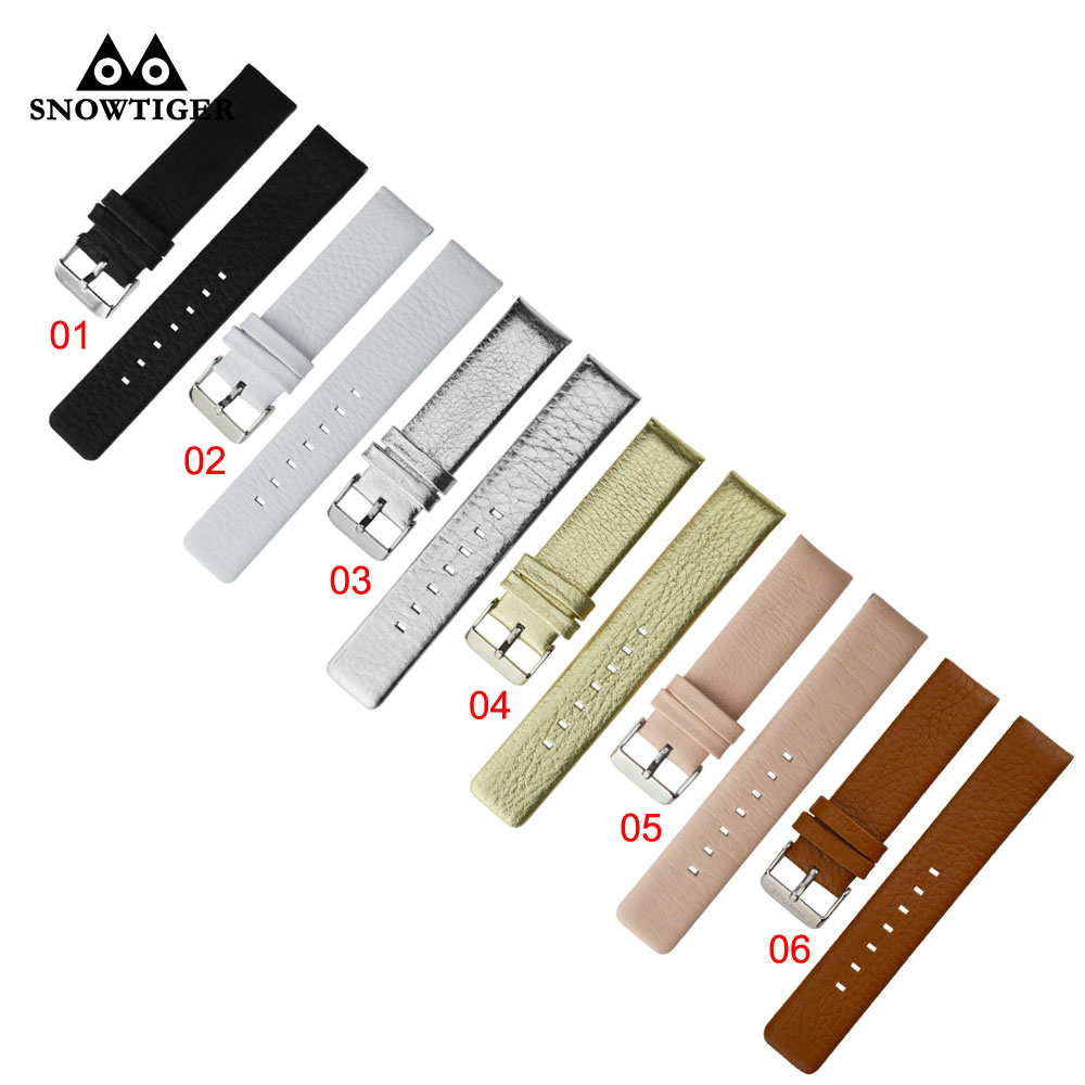Watches accessories wholesale genuine leather band with high quality watch band 20mm wrist band leather strap