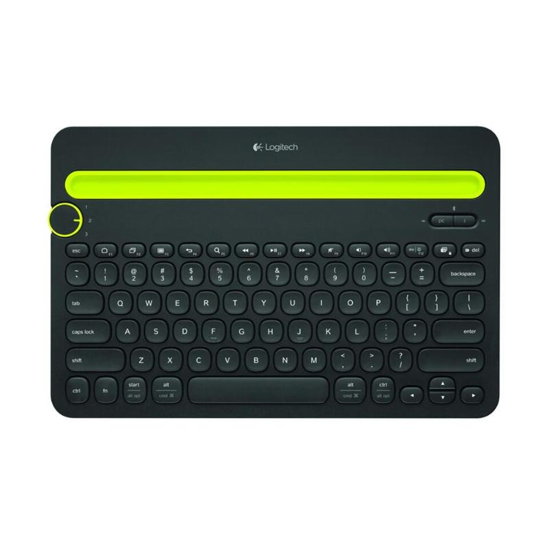 Logitech K480 Bluetooth Multi-Device Keyboard With Phone Holder Slot For Windows Mac OS IOS For Android Tablet Or Phone