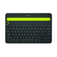 Logitech K480 Bluetooth Multi-Device Keyboard with Phone Holder Slot for Windows Mac OS iOS Android tablet or phone