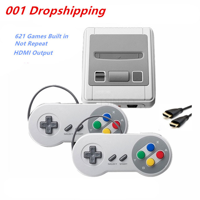 HD HDMI Retro TV Video Game Console Handheld Game Player Built-in 621 for NES Classic Games Children's game console Dual gamepad