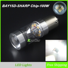 2PCS/Lot 100W 850LM P21/5W Brake Lights LED 360 degree, Car 12V-24V 1157 2357 Socket Rear Tail Bulbs BAY15D 2057 Brake Lamps