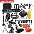 GoPro accesorios 42 en 1 Unidades Kit Familia Go Pro SJ4000 SJ5000 SJ6000 paquete de accesorios para gopro hd hero 1 2 3 3 + 4 xiaomi yi