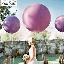 """5 ג מבו יח\חבילה 36 Inch 90 ס""""מ החתונה סופר גדול העגול הענק לאטקס בלונים מתנפחים אספקת בלון מסיבת יום הולדת"""