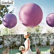 5 cái/lốc 36 Inch 90 cm Jumbo Latex Balloons Trang Trí Đám Cưới Inflatable Siêu Lớn Tròn Khổng Lồ Bữa Tiệc Sinh Nhật Nguồn Cung Cấp Bóng Bóng