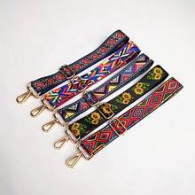 Colored Bag Straps Ethnic Flower Belt Accessories Women Adjustable Shoulder Hanger Handbag Straps Decoration Handle Ornament(China)