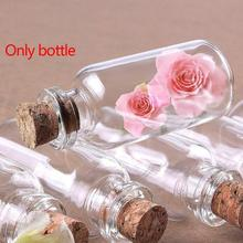 1 Pcs Mini Bottle Small Mason Jar With Clear Cork Stopper Jars Glass Containers Wedding Jewelry Glass Drop Shipping