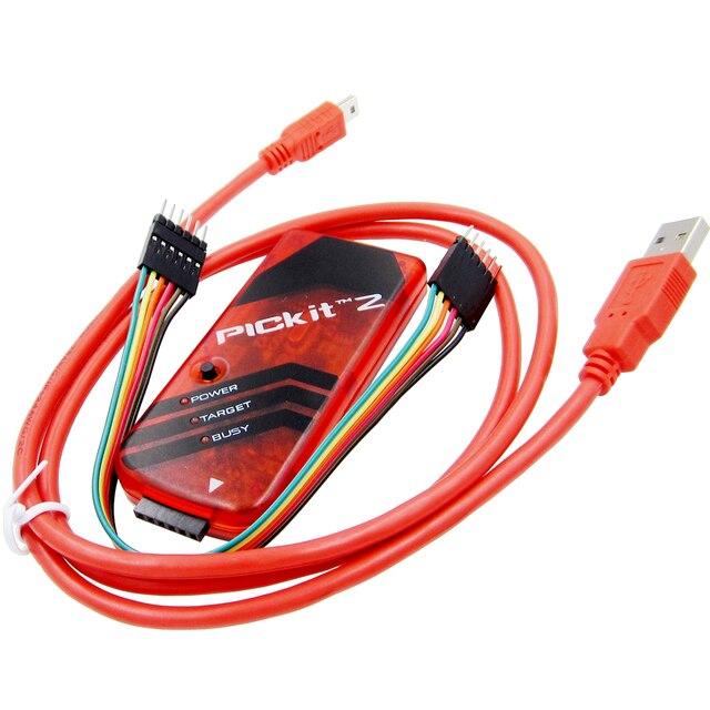 新 10 個 PICKIT2 PIC Kit2 シミュレータは、 Pickit 2 プログラマ Emluator レッドカラー w/USB ケーブルデュポン Wire