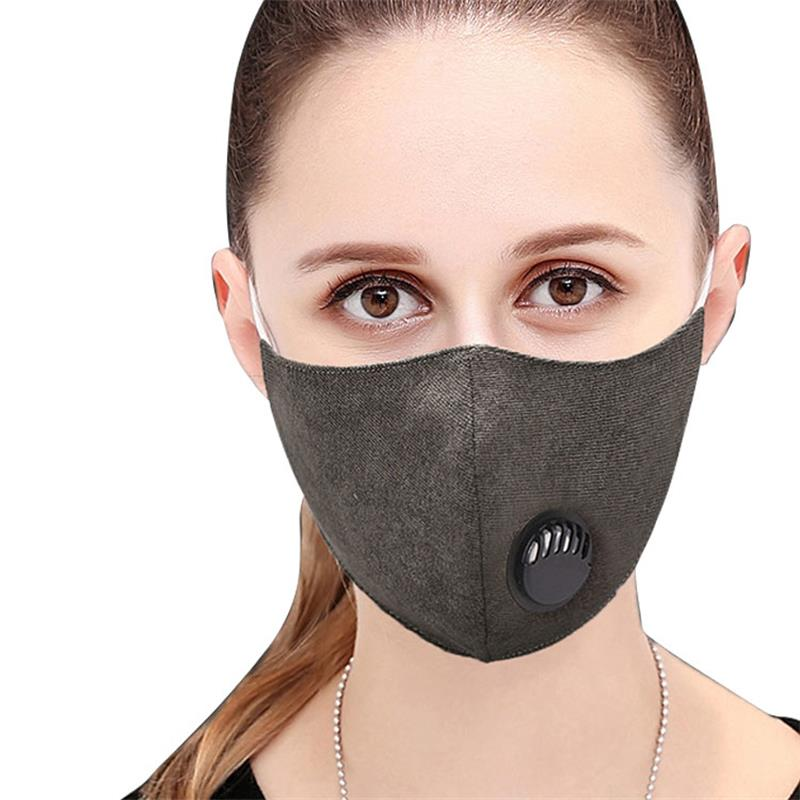 Health Care Independent Tcare 1pcs Fashion Unisex Cotton Breath Valve Mouth Mask Anti-dust Anti Pollution Face Masks Filter Respirator Mouth-muffle