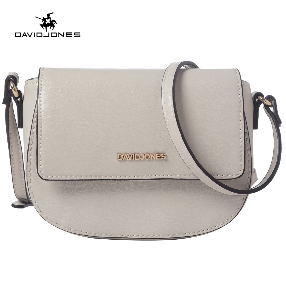 DAVIDJONES women crossbody bag small messenger mini saddle femal Shoulder Bags designer brand handbags evening purse