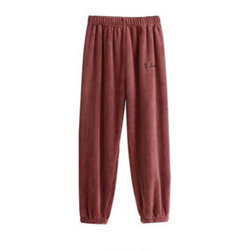 Flannel Sleep Bottoms Women Autumn Winter Warm Sleepwear Coral Fleece Soft Pants Elastic Waist Trousers Casual Home Wear