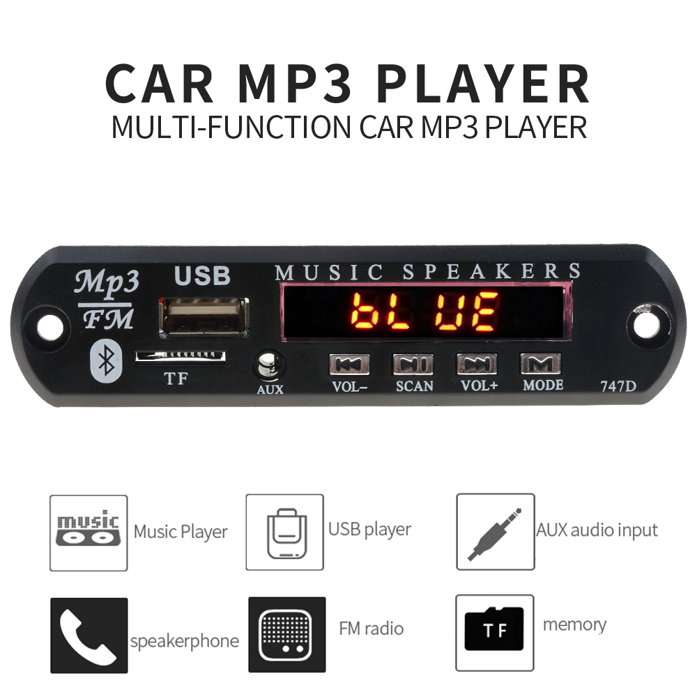 Mp3-Player Speakers Handsfree-Kit Audio-Modification-Kit Fm-Radio Car Bluetooth Wireless