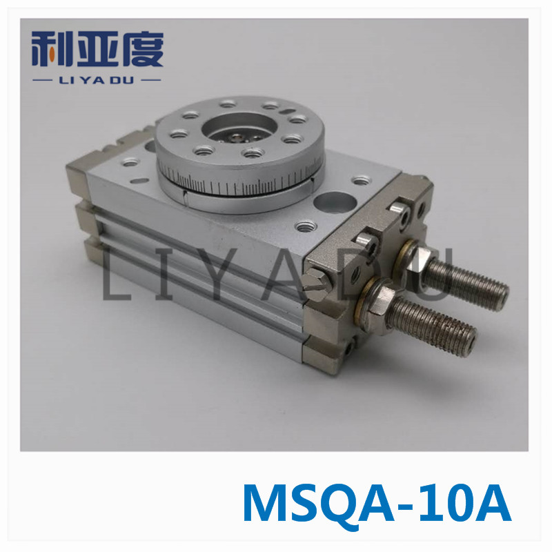 SMC type MSQA-10A rack and pinion type cylinder / rotary cylinder /oscillating cylinder, with angle adjustment screw MSQA 10A cdra1bsu50 180c smc orginal rack and pinion type oscillating cylinder rotary cylinder