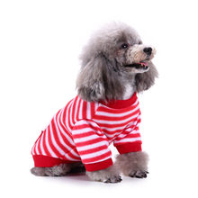 2018 New Fashion Christmas Comfort Pet Clothing Festival Striped Snowman Sweater Chihuahua French Bulldog(China)