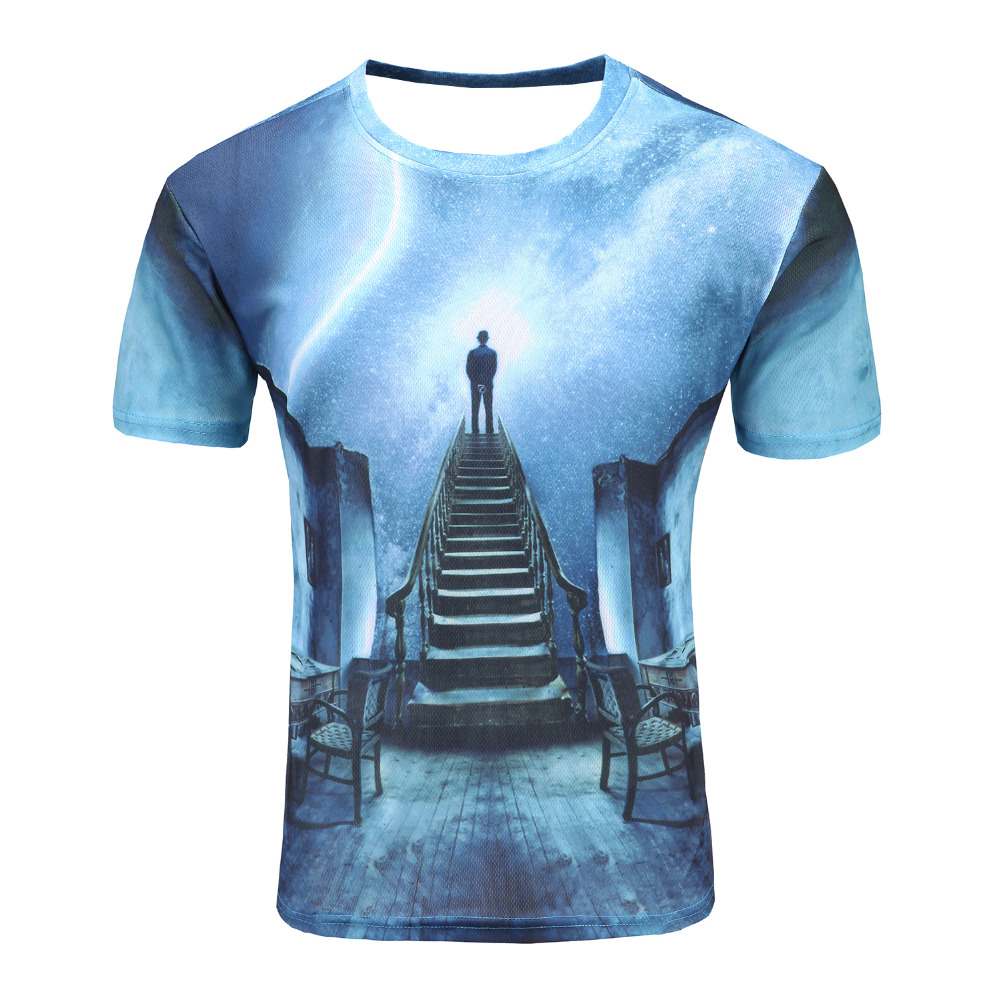 Space galaxy t shirt for men women 3d t shirt funny print for Galaxy white t shirts wholesale