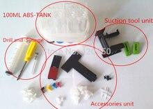 Универсальный СНПЧ, diy инструменты для canon hp снпч, с буровой и Всасывания инструмент и все аксессуары, 4 color, бесплатная доставка, ABS загар