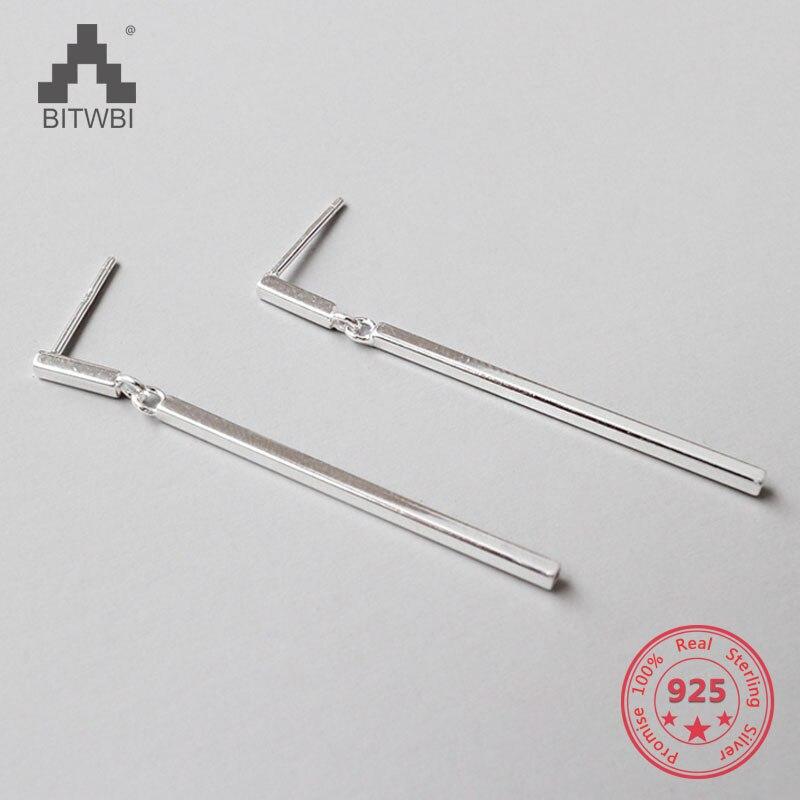 100% S925 sterling silver fashion simple geometric square earrings100% S925 sterling silver fashion simple geometric square earrings