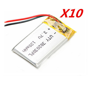 10 sztuk 3 7 V 120 mAh 302030 032030 PLIB polimerowy akumulator litowo-jonowy akumulator litowo-jonowy do blue tooth GPS mp3 mp4 zabawka głośnik tanie i dobre opinie EASTFIRE Litowo-polimerowy 120mah CN (pochodzenie) Tylko baterie 3x20x30mm 3 7V