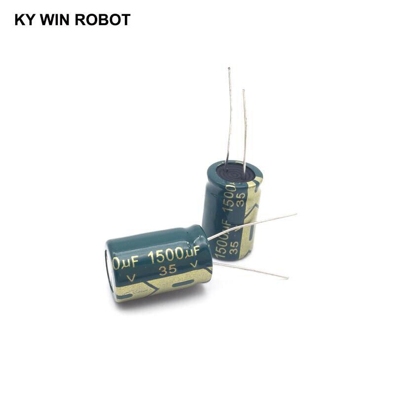 5 шт. алюминиевый электролитический конденсатор 1500 мкФ 35 в 13*21 мм, радиальный электролитический конденсатор frekuensi tinggi