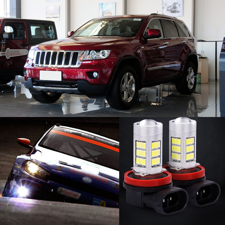 Ownsun 2pcs 72 SMD Daytime Running Light Bulbs LED Fog Lamp For Jeep Grand Cherokee 2013-2014 2pcs brand new high quality superb error free 5050 smd 360 degrees led backup reverse light bulbs t15 for jeep grand cherokee