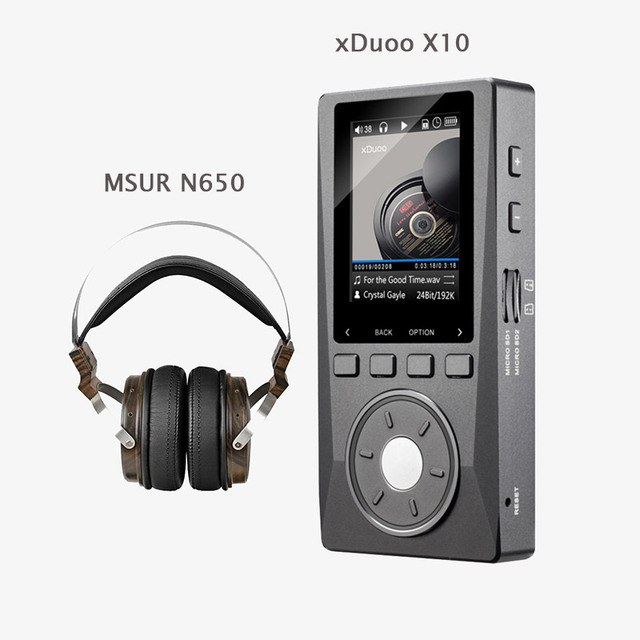 XDUOO X10 HD HIFI DSD Music Audio Player 192KHz/24bit DAP Support Optical Output MP3 Player with MSUR N650 Headset without box