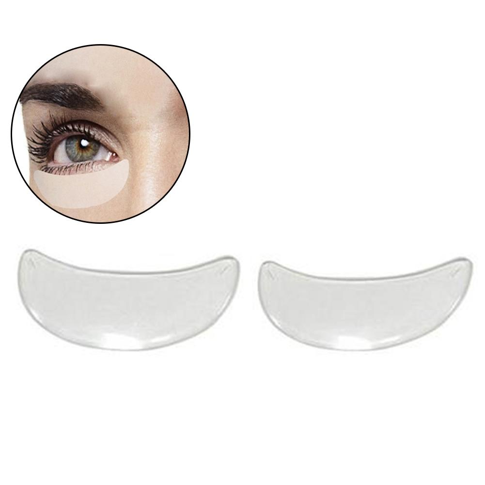 2Pcs Clear Flattening Anti-wrinkle Eye Pads Reusable Waterproof Silicone Under Eye Patches For Eyelash Extension Supplies Tools