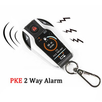 PKE 2 Two Way Motorcycle Anti theft Alarm System Remote Engine Start Moto Scooter PKE Sensing Alarm Theft Protection Universal