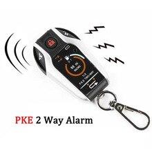 PKE 2 dwukierunkowy motocyklowy System antykradzieżowy zdalny, silnik Start Moto skuter PKE czujnik alarmowy ochrona przed kradzieżą uniwersalny