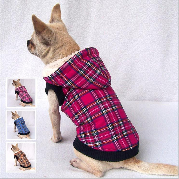 SALE Winter Dog clothes scottish plaid chihuahua clothing ...