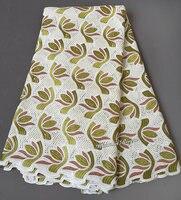 Super Miękkie off white original Afryki Szwajcarski woal koronki tkaniny najwyższej jakości 5 metrów za sztukę