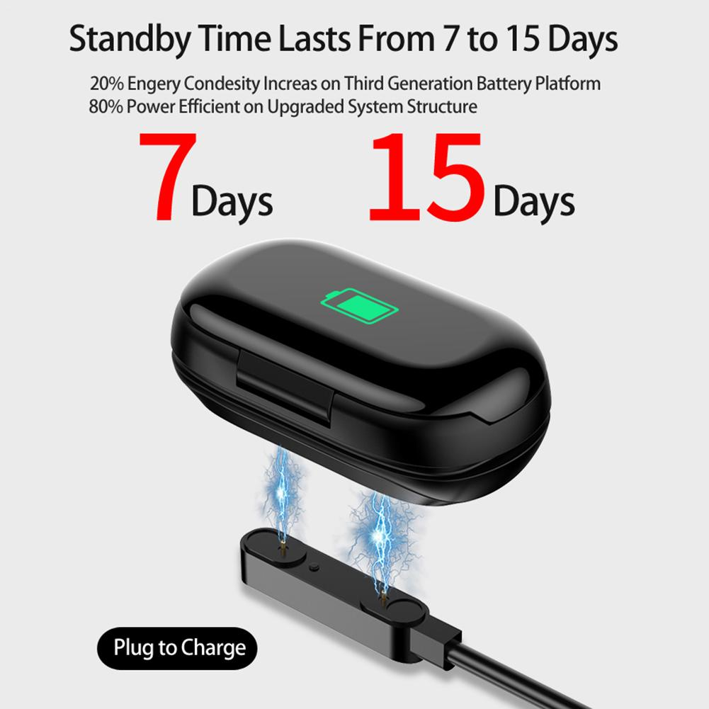 Image 5 - Newest Smart Watch Built in Bluetooth 5.0 Earphone Heart Rate Blood Pressure Monitoring Smart Wristband For IOS Android Unisex-in Smart Wristbands from Consumer Electronics
