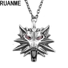Fashion jewelry charm men sweater necklace popular animals Wolf pendant necklace jewelry accessories sell like hot cakes