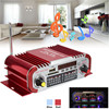 Mini 12V Car MP3 Hi Fi 2 CH Stereo Audio Amplifier Home Car Auto Motocycle Bass