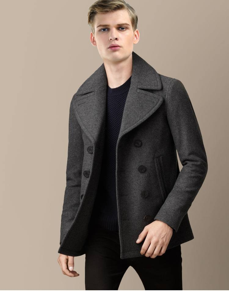 Popular Navy Wool Coat-Buy Cheap Navy Wool Coat lots from China ...