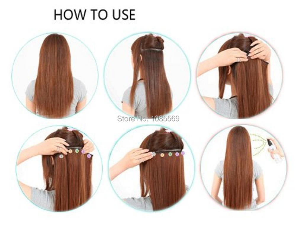 Luckygirl 23 Inch Black Mixed Colorful Strips Wire Straight Full ...