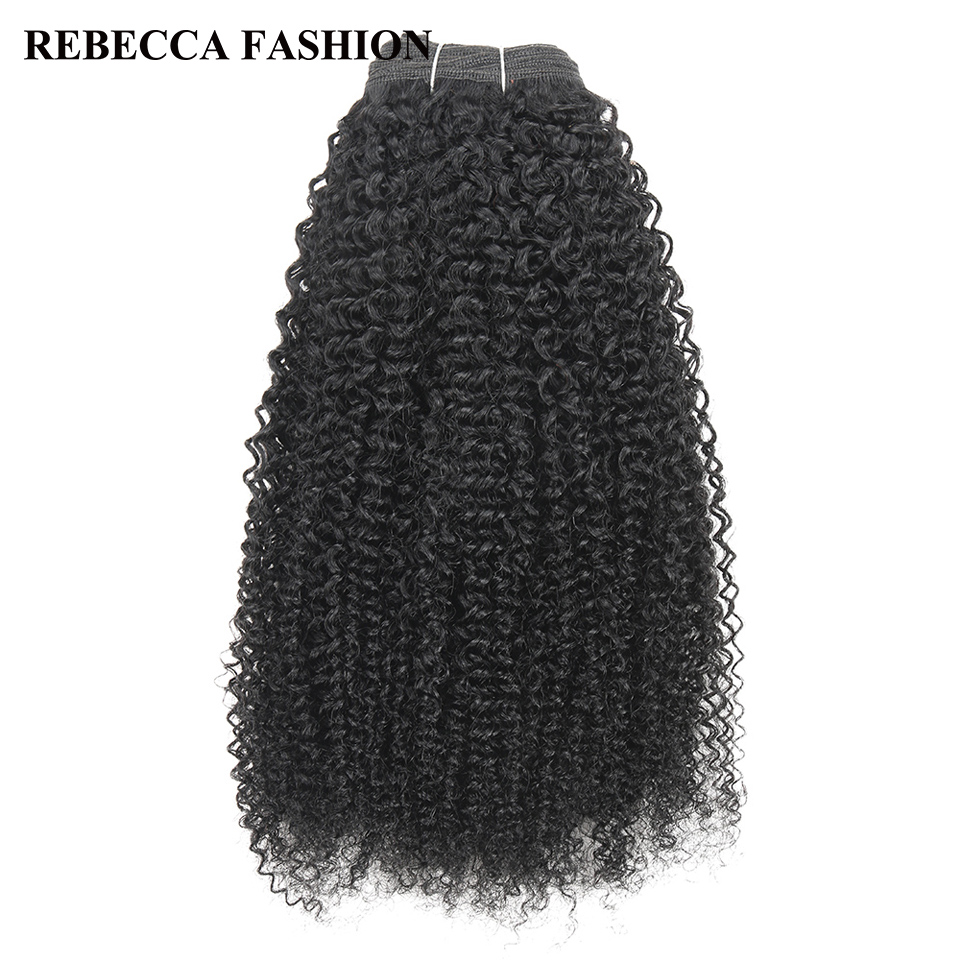 Rebecca Brazilian Remy Human Hair Weave 1 Bundle Afro Kinky Wave Black Brown For Salon Hair 1# 1B# 2# 4# Fee Shipping 100g