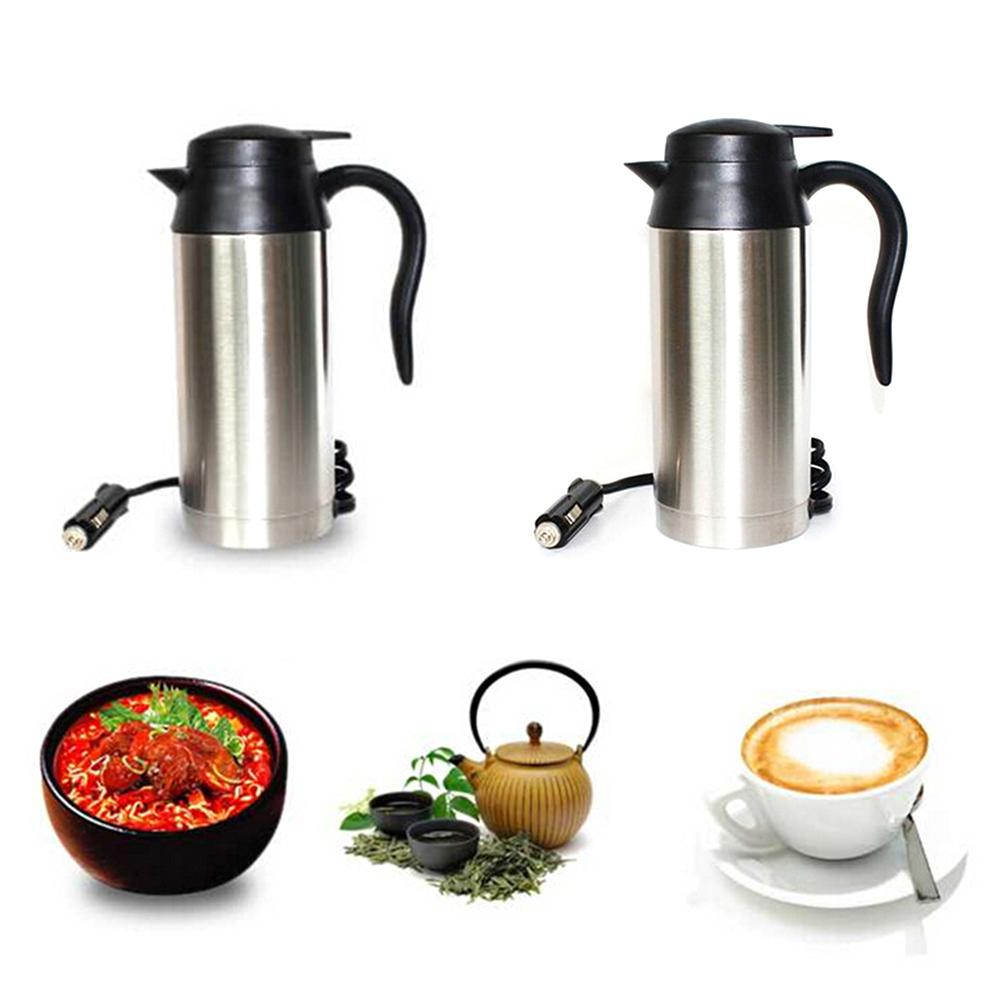 12V 750ML Car Based Heating Stainless Steel Cup Kettle Heat Coffee And Tea During The Trip Car Accessories Easy To Carry