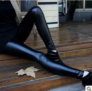 2014 new fasion women velour leggings Matt faux leather pants fashion legging all-match plus velvet - Robber store