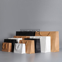 Kraft Paper Bag With Handles Recyclable Bag for Fashionable Clothes Shoes Gift Shops Gift Packaging Pouch