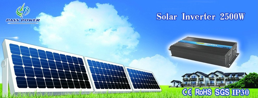 High performance dc to ac inverter,2500w solar inverters, CE&RoHS&GMC Approved one year warranty